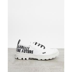 パラディウム Palladium メンズ スニーカー シューズ・靴 Pampa Ox Future Trainers With Writing Details In White ホワイト|fermart