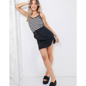 ブレイブソウル Brave Soul レディース スカート drawstring waist skirt in black ブラック|fermart