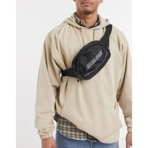 サンタクルーズ Santa Cruz メンズ ボディバッグ・ウエストポーチ バッグ Classic Strip bum bag in black ブラック|fermart