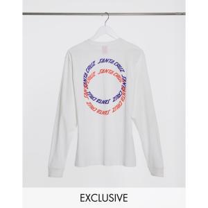 サンタクルーズ Santa Cruz メンズ 長袖Tシャツ トップス Rings long sleeve t-shirt in white Exclusive at ASOS ホワイト|fermart