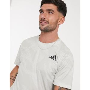 アディダス adidas メンズ Tシャツ トップス Training Camouflage t-shirt in white ホワイト|fermart