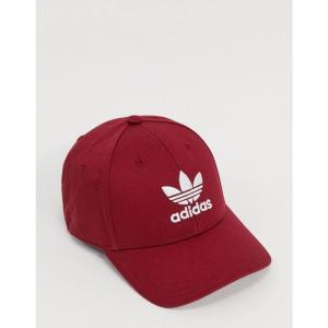 アディダス adidas Originals メンズ 帽子 trefoil cap in burgundy バーガンディ|fermart