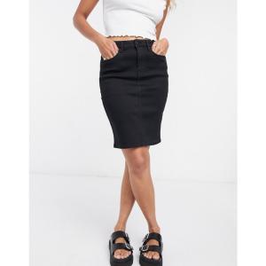 ヴィラ Vila レディース スカート デニム denim skirt in black ブラック|fermart