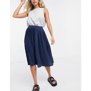 ヴィラ Vila レディース スカート pleated skirt in navy ネイビー|fermart