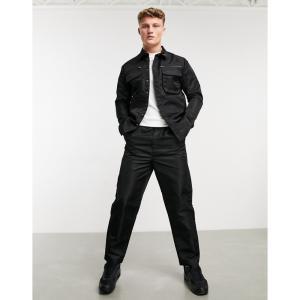 ネイティブユース Native Youth メンズ カーゴパンツ ボトムス・パンツ cyrus cargo trouser co-ord in black nylon shine ブラック|fermart
