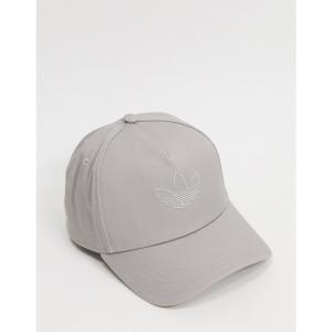 アディダス adidas Originals メンズ キャップ 帽子 Trucker Cap With Outline Trefoil In Grey グレー|fermart