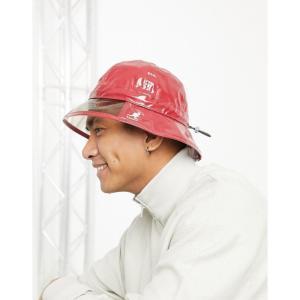 カンゴール Kangol メンズ 帽子 レインハット rain hat in red レッド|fermart