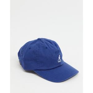 カンゴール Kangol メンズ キャップ ベースボールキャップ 帽子 Washed Baseball Cap In Blue ブルー|fermart