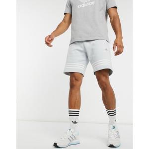 アディダス adidas メンズ ショートパンツ ボトムス・パンツ Originals Outline Stripe Shorts グレー|fermart