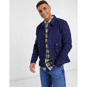 ネイティブユース Native Youth メンズ ジャケット シャツジャケット アウター lightweight shacket with oversized buttons in navy ネイビー|fermart