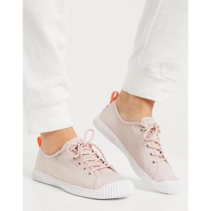 パラディウム Palladium レディース スニーカー レースアップ シューズ・靴 easy lace-up plimsolls in peach ピーチホイップ|fermart