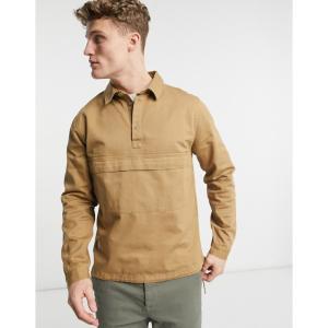 ネイティブユース Native Youth メンズ ジャケット ウィンドブレーカー アウター windbreaker jacket in sand サンド|fermart