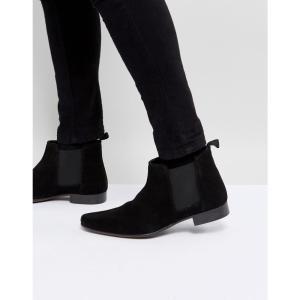 エイソス ASOS メンズ ブーツ シューズ・靴 ASOS Chelsea Boots in Suede Black suede|fermart