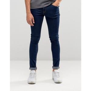 エイソス メンズ ジーンズ・デニム ボトムス・パンツ ASOS Extreme Super Skinny Jeans In Raw Blue Indigo|fermart