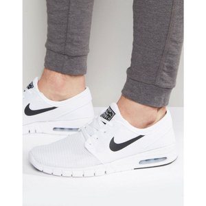 ナイキSB メンズ スニーカー シューズ・靴 Nike SB Stefan Janoski Max Trainers In White 631303-100 White fermart