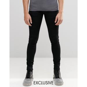 ブルックリンサプライ メンズ ジーンズ ボトムス Brooklyn Supply Co Black Hunter Spray On Denim Jeans Black|fermart