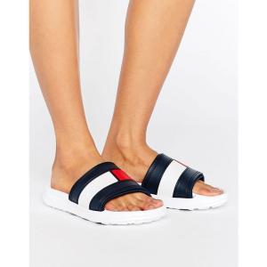 トミー ヒルフィガー レディース サンダル・ミュール シューズ・靴 Flag Slider Sandals White|fermart