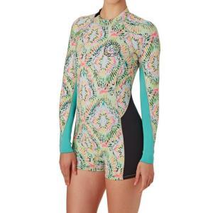 ビラボン Billabong レディース ウェットスーツ 水着・ビーチウェア Surf Capsule Spring Fever 2mm 2017 Back Zip Long Sleeve Shorty Wetsuit Multicoloured|fermart