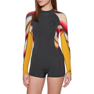 ビラボン Billabong レディース ウェットスーツ 水着・ビーチウェア Spring Fever 2mm 2019 Back Zip Shorty Wetsuit Multicoloured|fermart