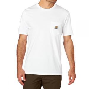 カーハート メンズ Tシャツ トップス Pocket T-Shirt White|fermart