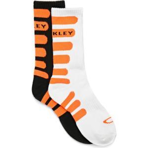 オークリー Oakley メンズ ソックス 2点セット インナー・下着 bold striped 2pk sports socks Blackout|fermart