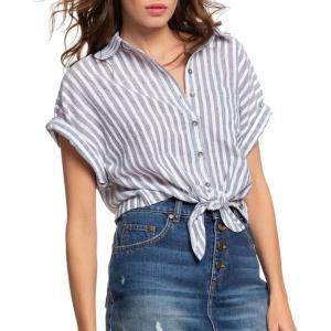 ロキシー Roxy レディース ブラウス・シャツ トップス full time dream short sleeve shirt Mood Indigo Lagos Stripes|fermart
