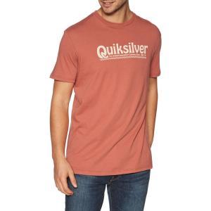 クイックシルバー Quiksilver メンズ Tシャツ トップス new slang short sleeve t-shirt Redwood|fermart