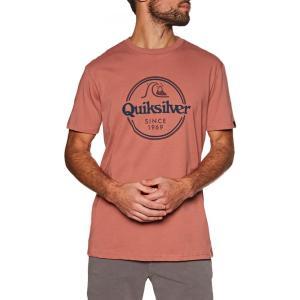 クイックシルバー Quiksilver メンズ Tシャツ トップス words remain short sleeve t-shirt Redwood|fermart