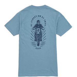 ロアークリバイバル Roark Revival メンズ Tシャツ トップス moto short sleeve t-shirt Slate Blue|fermart