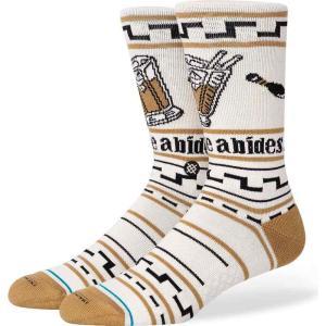 スタンス Stance メンズ ソックス インナー・下着 the dude fashion socks Tan|fermart