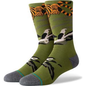 スタンス Stance メンズ ソックス インナー・下着 big cat crew fashion socks Green|fermart