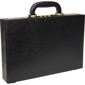 アメリレザー AmeriLeather メンズ ビジネスバッグ・ブリーフケース バッグ Slim Executive Faux Leather Attache Case Black fermart