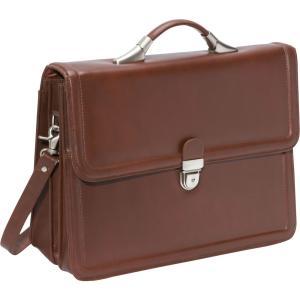 アメリレザー AmeriLeather メンズ ビジネスバッグ・ブリーフケース バッグ APC Savvy Leather Executive Briefcase Brown fermart