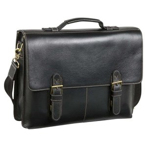 アメリレザー AmeriLeather メンズ ビジネスバッグ・ブリーフケース バッグ Classical Leather Organizer Briefcase Black fermart