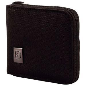 ビクトリノックス Victorinox メンズ 財布 Lifestyle Accessories 4.0 Zip-Around Wallet Black/Black Logo|fermart