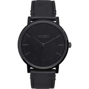 ニクソン Nixon メンズ 腕時計 Porter Leather Watch All Black fermart