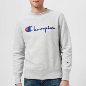 チャンピオン Champion メンズ スウェット・トレーナー トップス crew neck script sweatshirt - grey Grey fermart