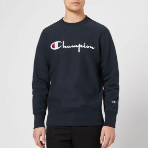 チャンピオン Champion メンズ スウェット・トレーナー トップス crew neck script sweatshirt - navy Navy fermart