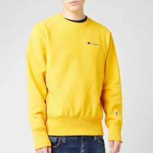 チャンピオン Champion メンズ スウェット・トレーナー トップス small script sweatshirt - yellow Yellow fermart