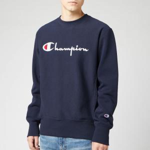 チャンピオン Champion メンズ スウェット・トレーナー トップス big script sweatshirt - navy Navy fermart