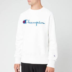 チャンピオン Champion メンズ スウェット・トレーナー トップス big script sweatshirt - white White fermart