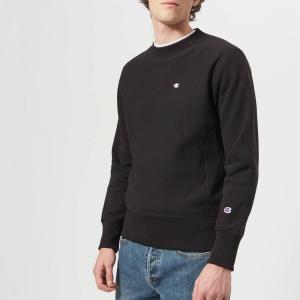 チャンピオン Champion メンズ スウェット・トレーナー トップス crew neck sweatshirt - black Black fermart