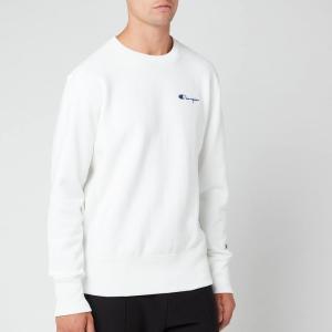 チャンピオン Champion メンズ スウェット・トレーナー トップス Small Script Sweatshirt - White White|fermart