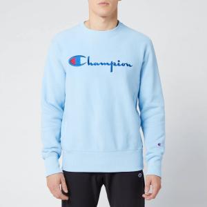 チャンピオン Champion メンズ スウェット・トレーナー トップス Big Script Sweatshirt - Pale Blue Blue|fermart