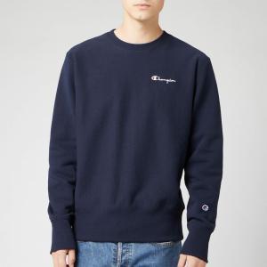 チャンピオン Champion メンズ スウェット・トレーナー トップス small script sweatshirt - navy Navy|fermart