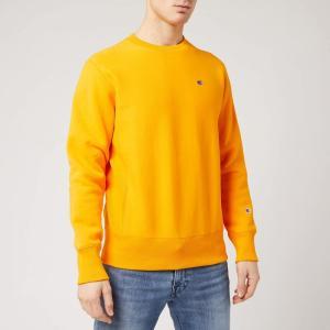 チャンピオン Champion メンズ スウェット・トレーナー トップス Logo Crew Neck Sweatshirt - Yellow Yellow|fermart