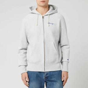 チャンピオン Champion メンズ スウェット・トレーナー トップス Small Script Full Zip Sweatshirt - Grey Marl Grey|fermart