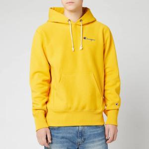 チャンピオン Champion メンズ スウェット・トレーナー トップス Small Script Hooded Sweatshirt - Yellow Yellow|fermart