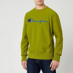 チャンピオン Champion メンズ スウェット・トレーナー トップス Big Script Sweatshirt - Green Green|fermart