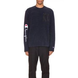 チャンピオン Champion Reverse Weave メンズ スウェット・トレーナー トップス Sleeve Script Sweatshirt Navy|fermart